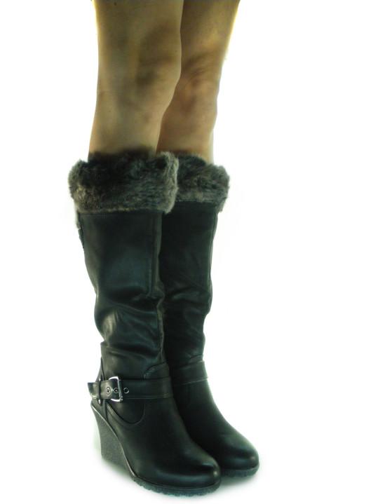 stivali donna zeppa indossati
