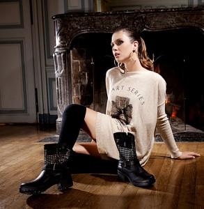 abbinare anfini borchie biker boots