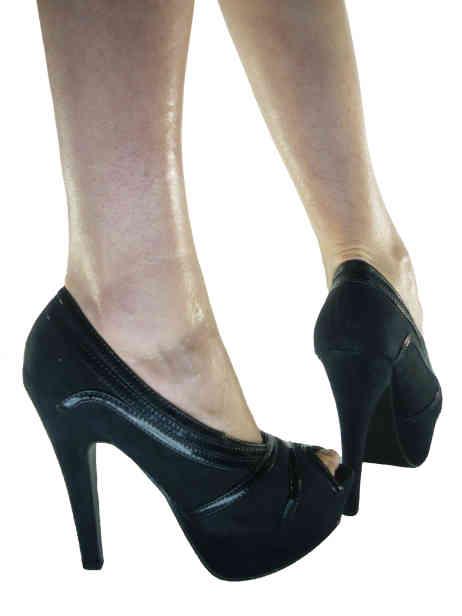 scarpe online decollete vernice camoscio spuntate