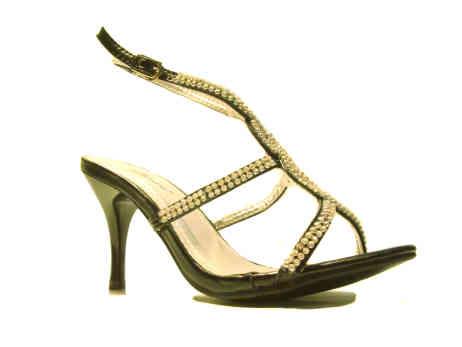 sandali gioiello nero