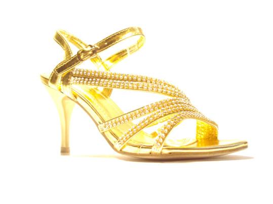 sandali oro sposa