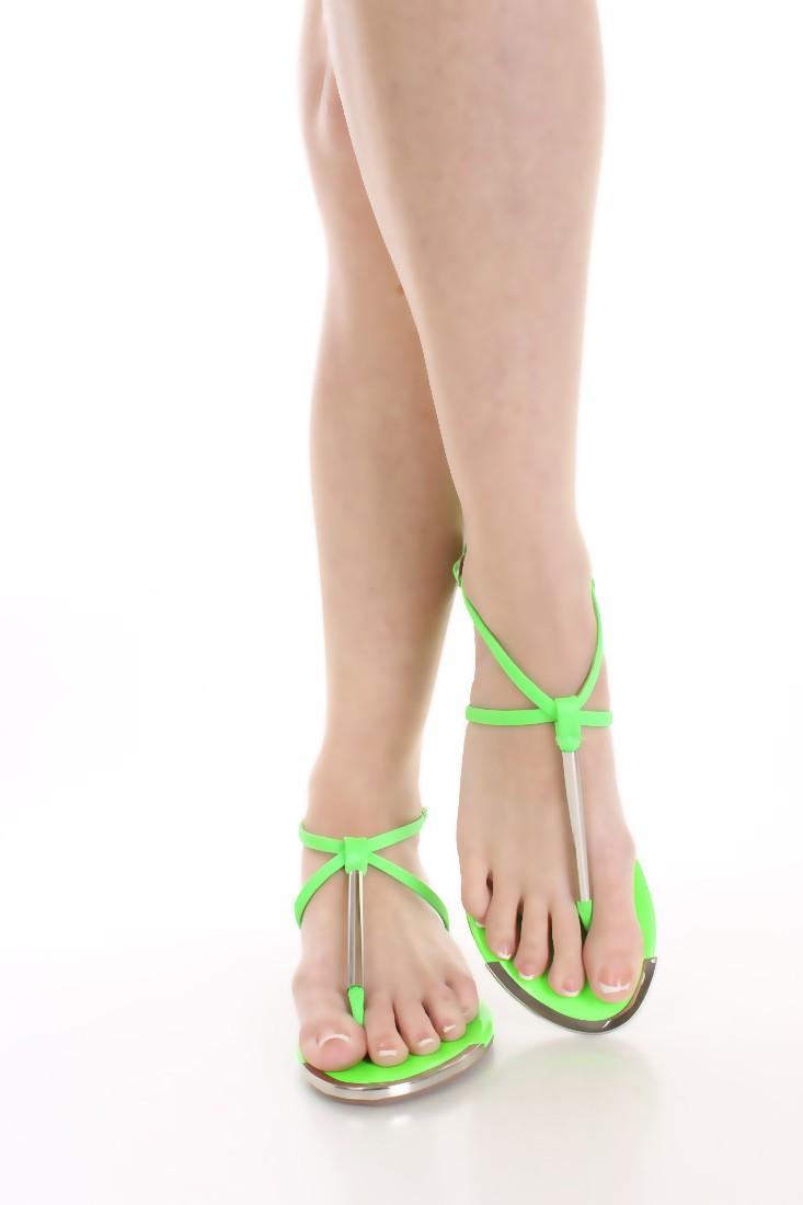 Sandali Infradito Verde Fluò