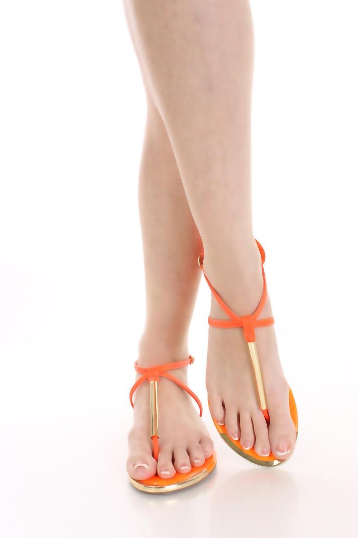 Sandali Infradito Orange Fluò