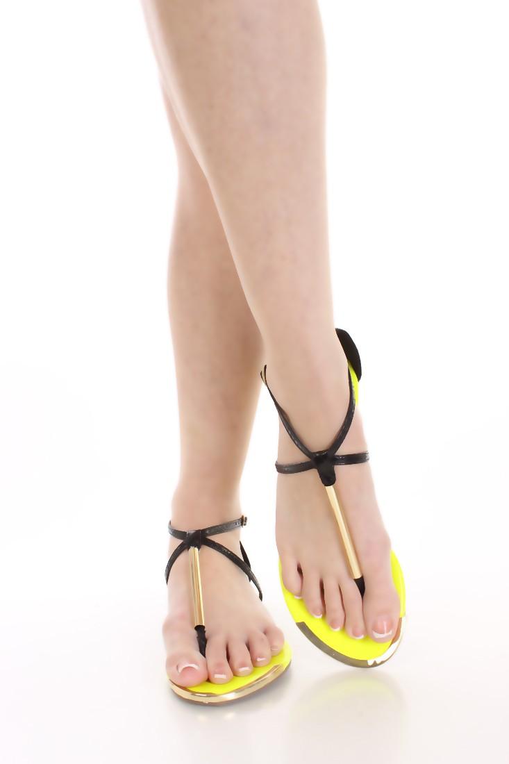 sandali infradito giallo fluò (2)