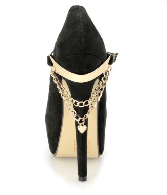 scarpe decolte camoscio oro tacchi altissimi (5)