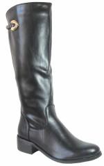 stivali pelle donna nero