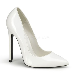 decollete pleaser sexy bianco