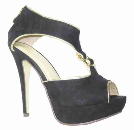 sandali gioiello neri oro silvia