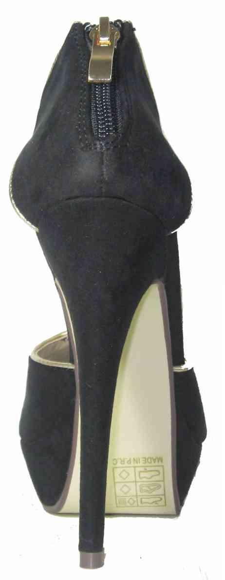 sandali gioiello neri oro silvia tacco