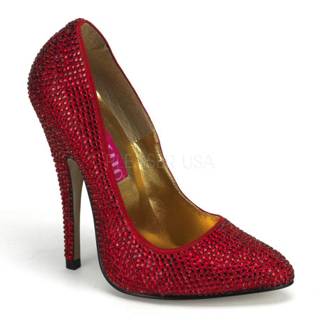decollete rosse strass SCANDAL-620R-R