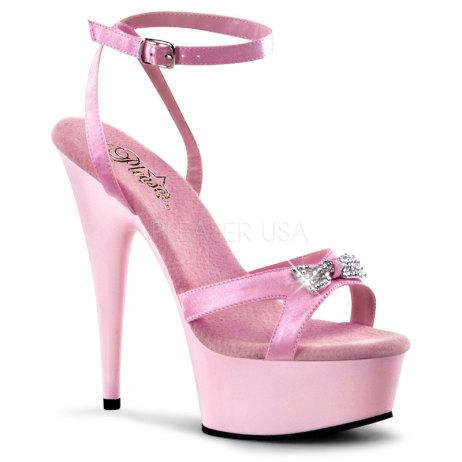 sandali pleaser plateau delight-636 rosa