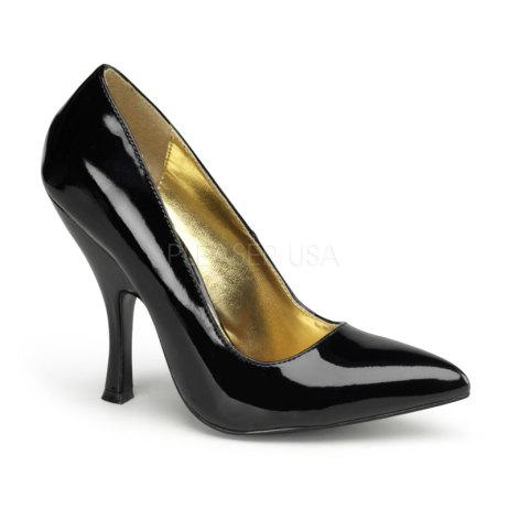 scarpe decolte nero leopardato pleaser bombshell 01 (1)