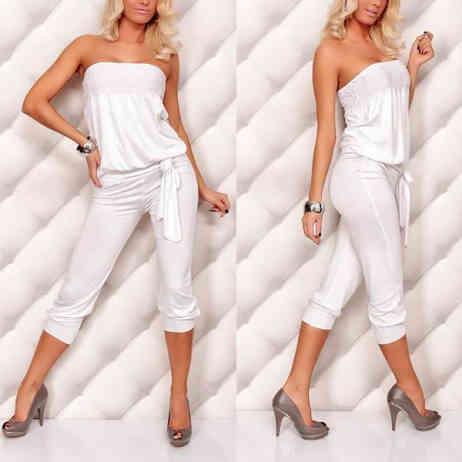 mini abito con pantalone bianco