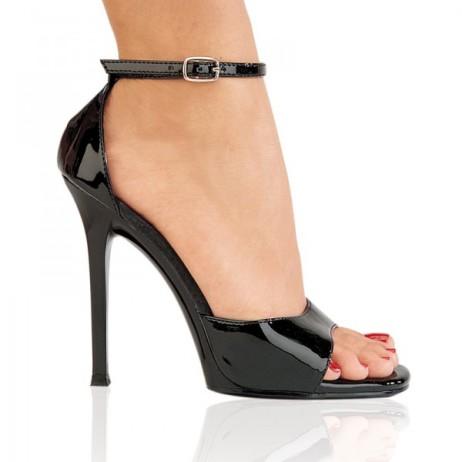 sandali elegnati sera vernice nero lucidi gala-36 pleaser (5)