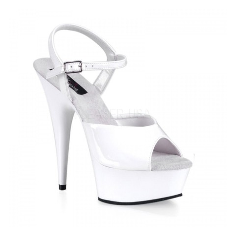 sandali sposa bianco vernice plateau delight-609-w