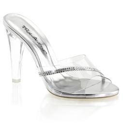 scarpe donna sandali stivali decolte tacchi plateau eleganti CLEARLY-401R