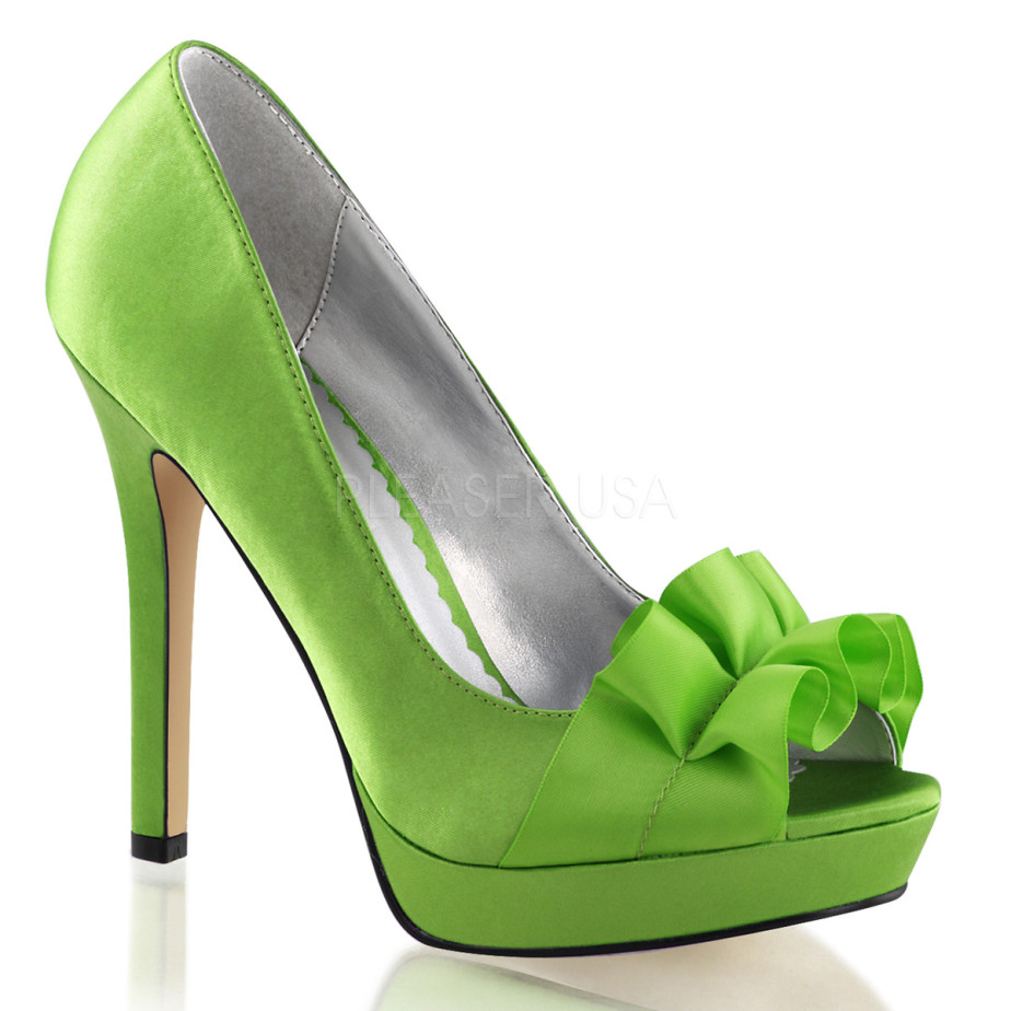 Scarpe Tacco Verde Mela