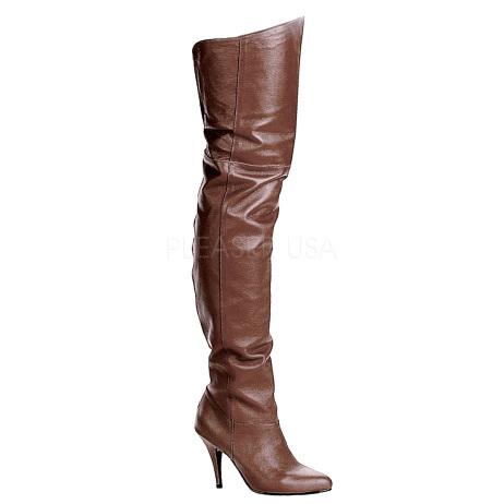 stivali pelle cuoio zip interna alti al ginocchio legend-8868-brle