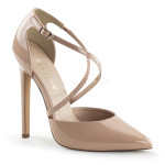 sexy elegant pin-cream pumps patent 26-nu