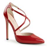 decollete vernice rosso spillo eleganti sexy-26-r