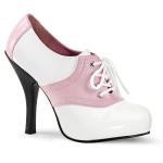 francesina francesine tacchi bianco rosa