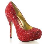 decollete scarpe rosso strass donna