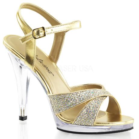 sandali gioiello oro glitter