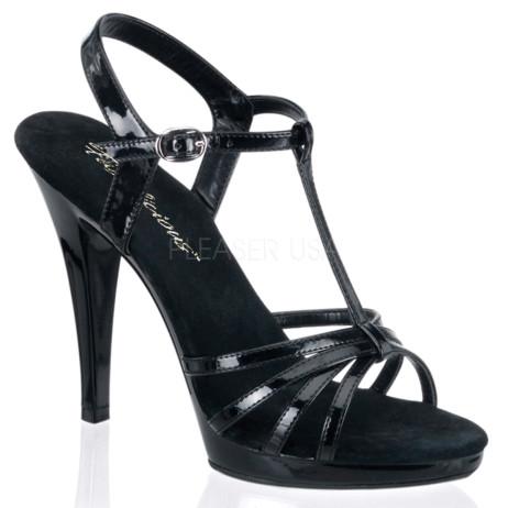 sandali da sera nero cinturino