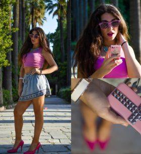 outfit rosa primaverile