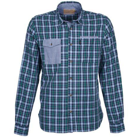 Camicia a maniche lunghe uomini Chevignon  CL NAVY DOUBLE  verde