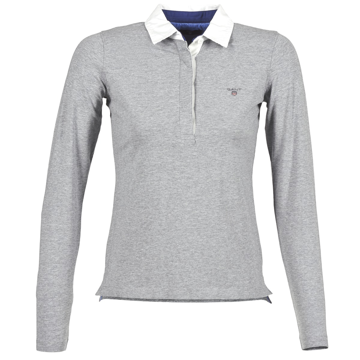 Polo maniche lunghe donna Gant SOLID JERSEY RUGGER grigio  Free Shipping  OutletScarpeOnline.it