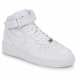 Scarpe uomini Nike  AIR FORCE 1 MID 07 LEATHER  Bianco