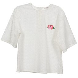 Camicetta donna Manoush  FLOWER BADGE  Bianco Manoush 3700374053394