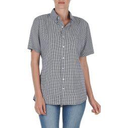 Camicia a maniche corte donna American Apparel  RSACP401S  Blu American Apparel