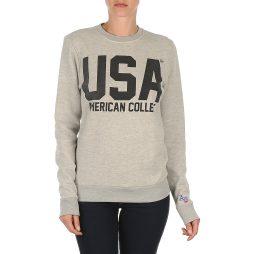 Felpa donna American College  USA  Grigio American College 3662577000882
