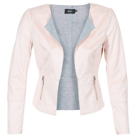 Giacca in pelle donna Only  AMY  Rosa Only 5713731120484