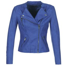 Giacca in pelle donna Only  AVA  Blu Only 5713618923146
