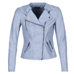 Giacca in pelle donna Only  AVA  Blu Only 5713731428627