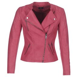 Giacca in pelle donna Only  AVA  Rosa Only 5713731073803
