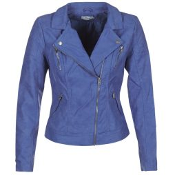 Giacca in pelle donna Only  STEADY  Blu Only 5713726061679