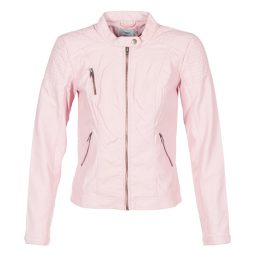 Giacca in pelle donna Only  STEADY  Rosa Only 5713726058709