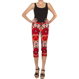 Pantaloni 7/8 e 3/4 donna Manoush  PANTALON POPPY  Rosso Manoush 3700374009100