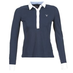 Polo maniche lunghe donna Gant  OXFORD PIQUE RUGGER  Blu Gant 7325701115321