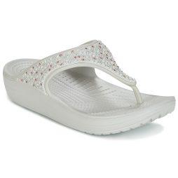 Sandali donna Crocs  SLOANE EMBELLISHED FLIP  Bianco Crocs 887350976755