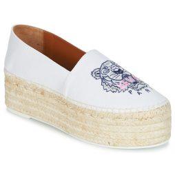 Scarpe Espadrillas donna Kenzo  PLATFORM TIGER ESPADRILLES  Bianco Kenzo 3603679211974