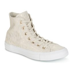 Scarpe donna Converse  CHUCK TAYLOR ALL STAR SHIMMER SUEDE HI BUFF/BUFF/WHITE  Beige Converse 888754732381