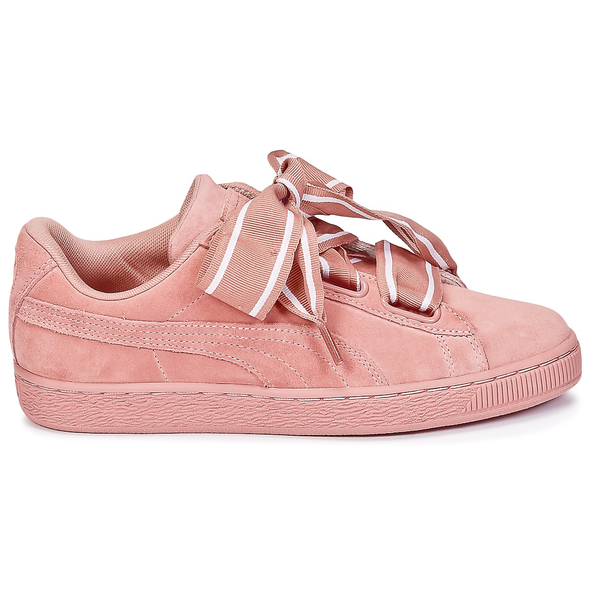 sneakers scarpe donna puma basket heart satin rosa rosa. Black Bedroom Furniture Sets. Home Design Ideas