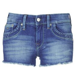 Shorts donna Pepe jeans  RIPPLE SHORT  Blu Pepe jeans 8434538488962