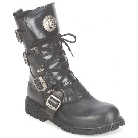 Stivaletti donna New Rock  BUCKLES  Nero New Rock 8432263027821