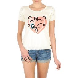 T-shirt donna Manoush  TEE SHIRT VALENTINE  Bianco Manoush 3700374013893